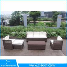 High Quality Unique Design Brown Rattan Cube Garden Furniture